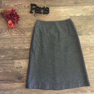 Gap gray wool stretch midi skirt 1